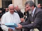 Padre Pedro com Papa Francisco